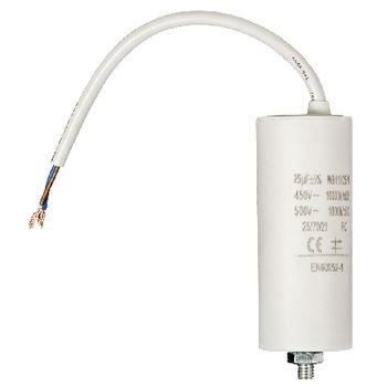 Kondensator 25.0uf / 450 V + cable