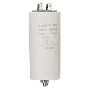 Kondensator 40.0uf / 450 v + Aarde